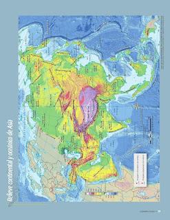 Apoyo Primaria Atlas de Geografía del Mundo 5to. Grado Capítulo 2 Lección 1 Relieve Continental y Oceánico de Asia