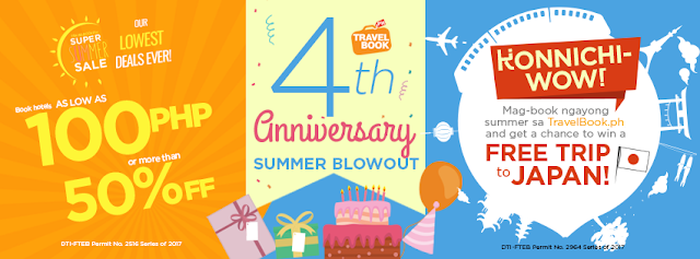 FTW! blog, #FTWBlog, #TravelbookPH #Konnichiwow #supersummersale, #zhequiaDOTcom, #FTWtravels Travelbook.ph celebrates their fourth year anniversary