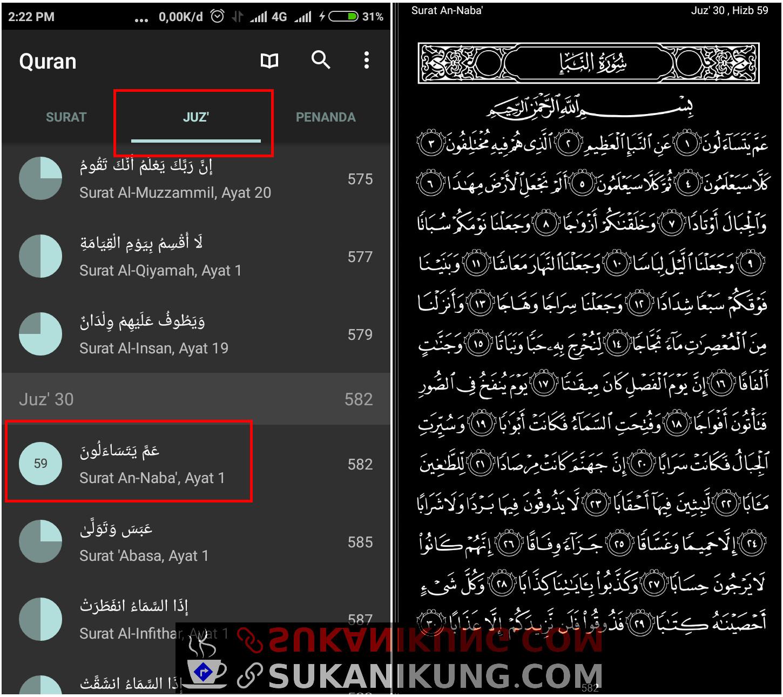 Quran For Android, Al-Qur'an Digital Lengkap Untuk Android (Bagian #5 – Audio Juz Amma) - www.sukanikung.com
