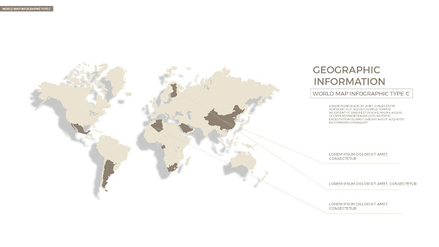 Infographic World Map by country in Powerpoint Slide3