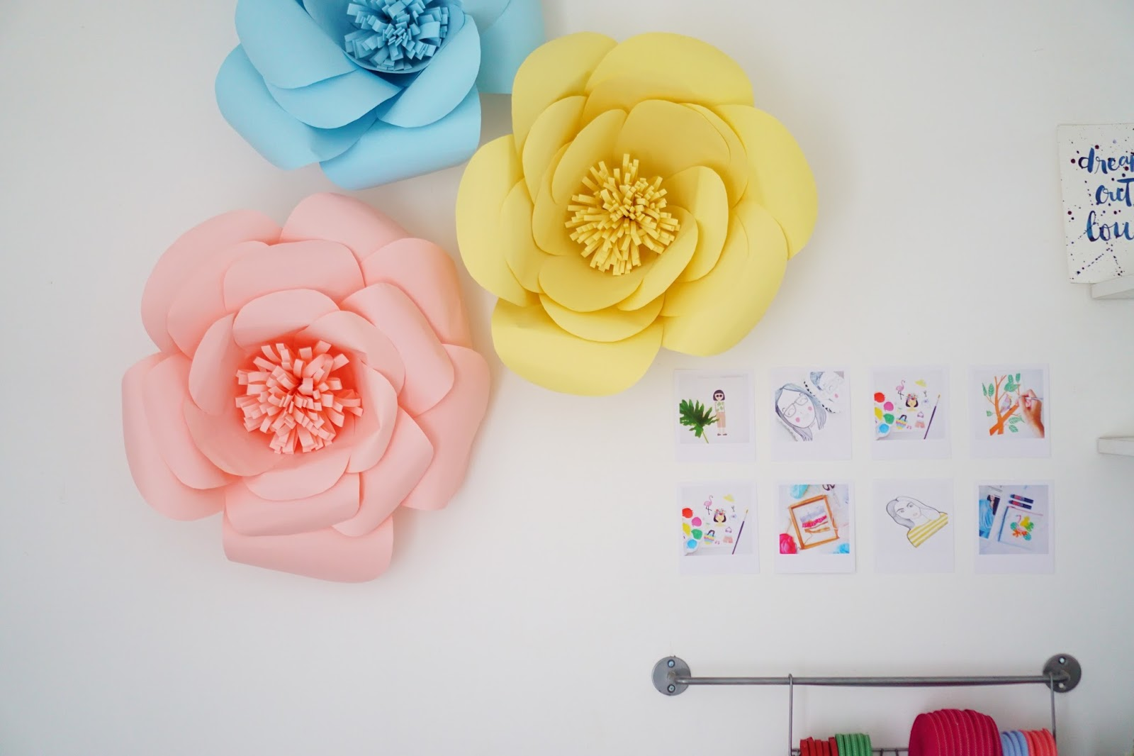 Dorable How To Make Paper Flower Wall Decorations Composition - Art ...