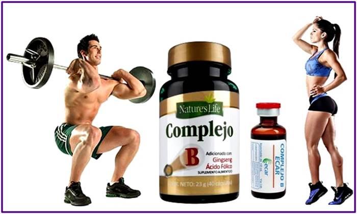 Suplementos en pastas e inyecciones de complejo b promueven la ganancia de masa muscular