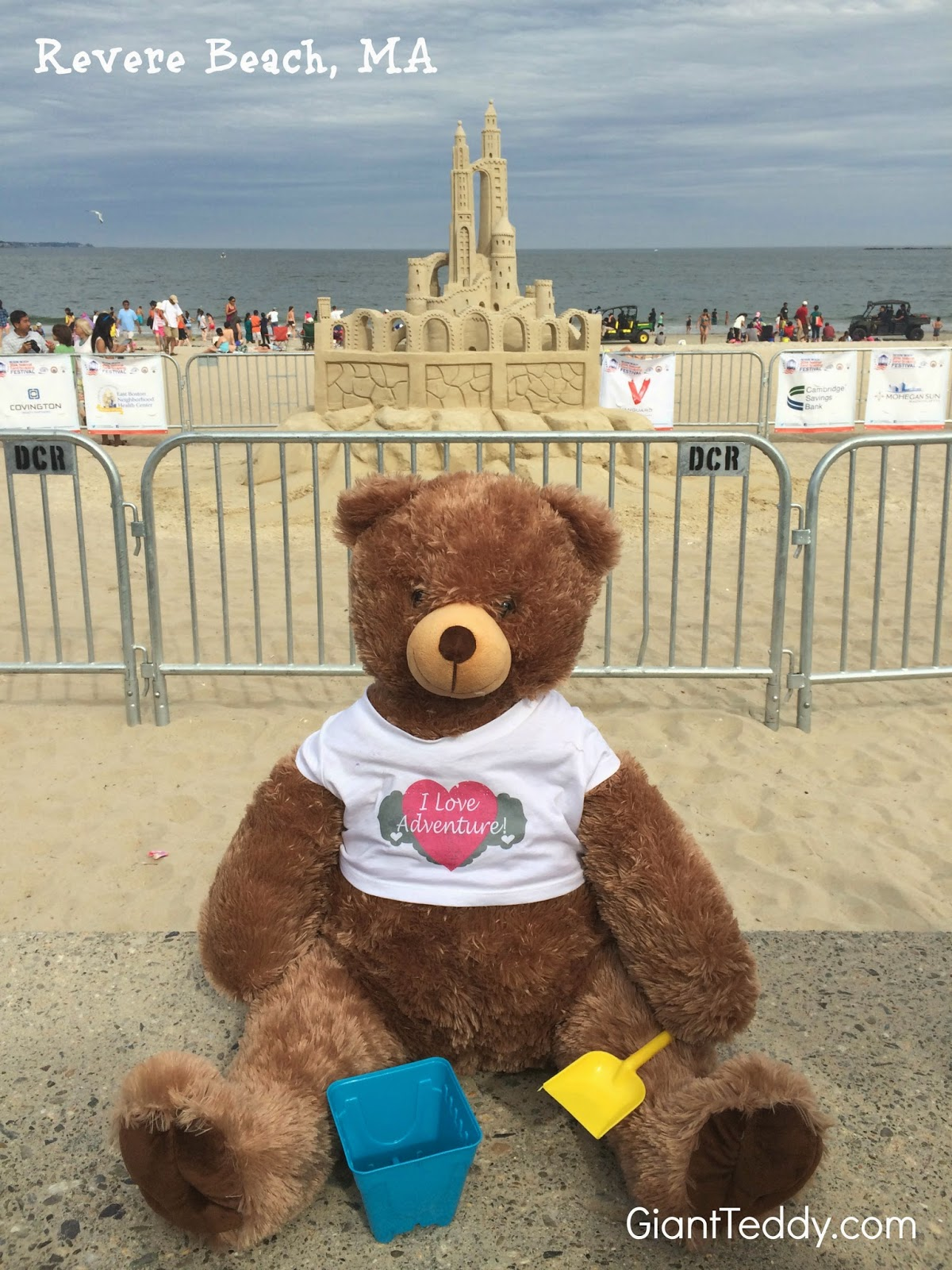 Giant Teddy bear expertise in sand sculpting