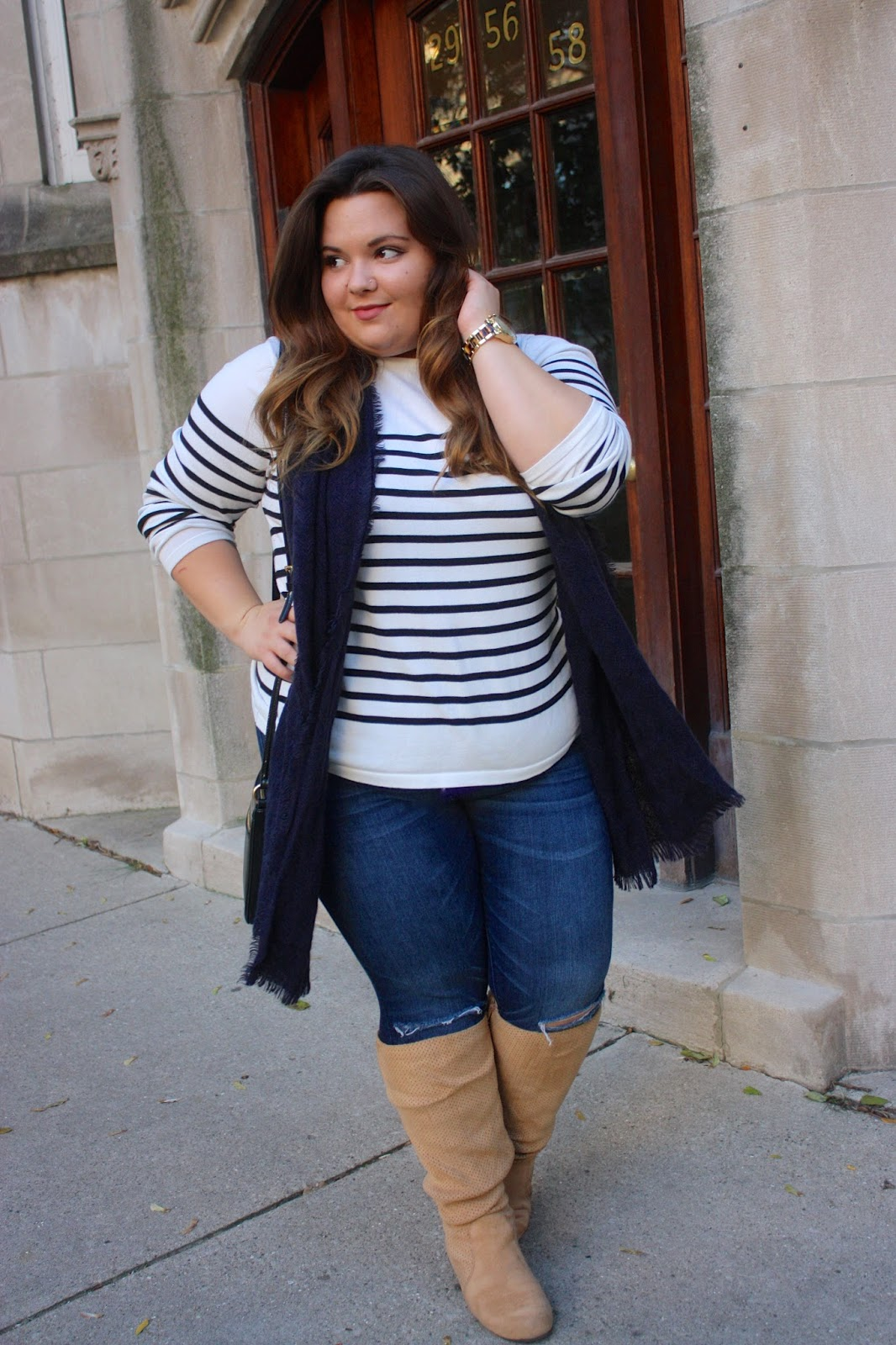 Can Curvy Girls Wear Horizontal Stripes Natalie In The City A Chicago Plus Size Fashion