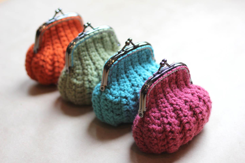Moderno Knitted Purse Patterns Beginners Bandera - Manta de Tejer ...