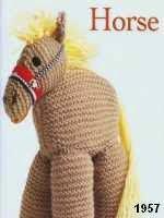 patron gratis caballo amigurumi de punto, free knit amigurumi pattern horse