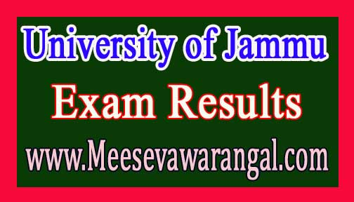 University of Jammu B.Ed IInd Sem Re-Evaluation 2016 Exam Results