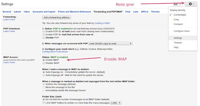 Cara Setting Gmail dengan Thunderbird cara setting email dengan thunderbird