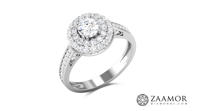 Two Layer Diamond Solitaire Ring