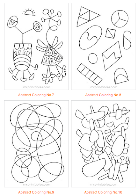 Be Different...Act Normal: Abstract Coloring Pages for
