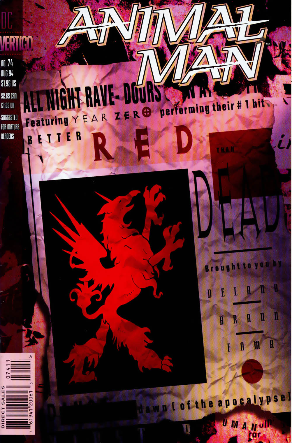 Read online Animal Man (1988) comic -  Issue #74 - 1