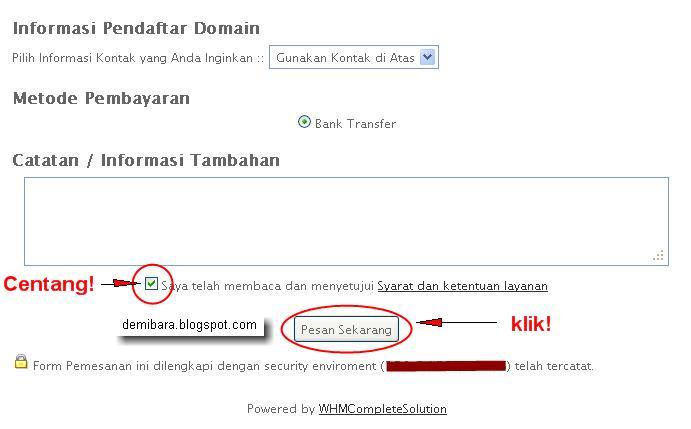 Cara Hosting Website Untuk Toko Online - Informasi Pendaftar Domain