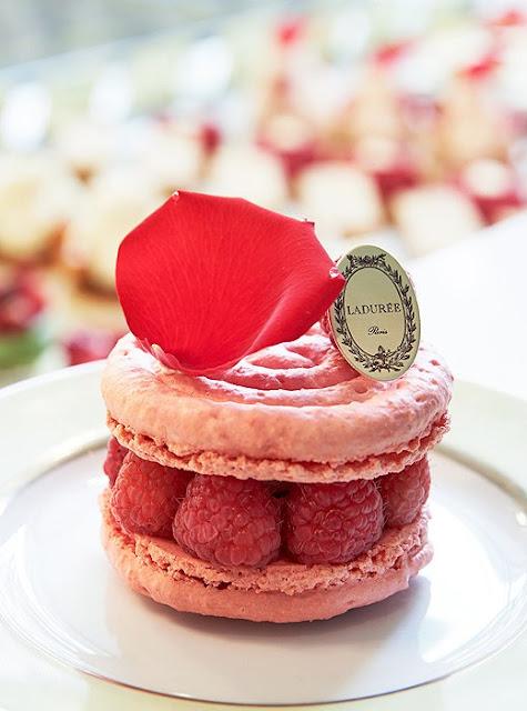 Ladurée pastry a raspberry delight.