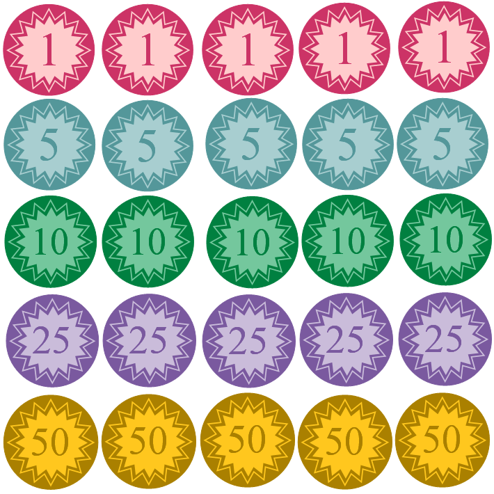 Free Clipart N Images: Printable Coins For Kids