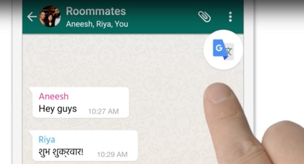 Google Traduttore, traduzione istantanea in WhatsApp e Facebook Messenger