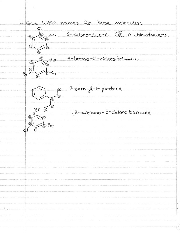 Chem 220: Quiz Section Exercise: Reactions of Alkenes/Alkynes