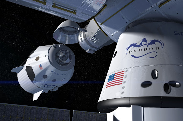 SpaceX Dragon, Nasa, esa, space, iss