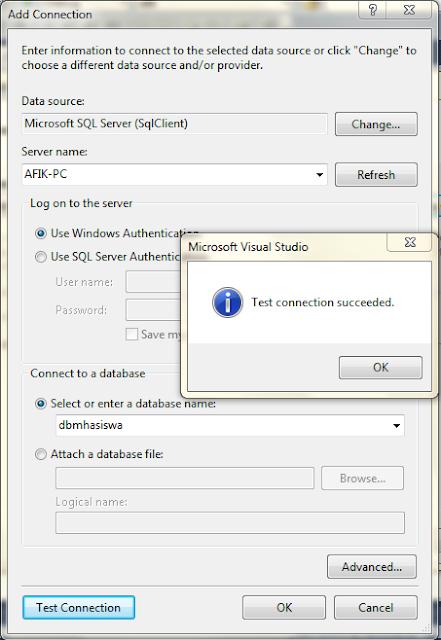 5 - Koneksi Sql Server Dengan Microsoft Visual Studio