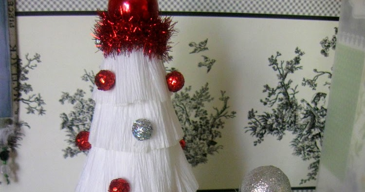 Something Special: Simple Crepe Paper Christmas Tree Tutorial