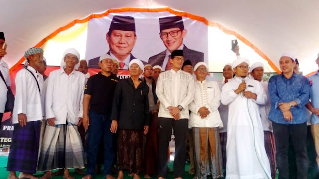 Ikatan Santri NU Do'akan Prabowo-Sandi Menang