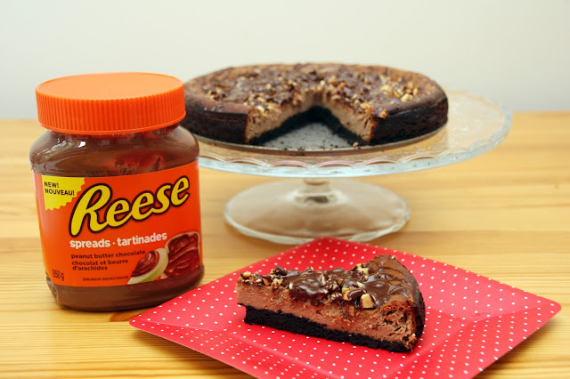 Reese Peanut Butter and Chocolate Greek Yogurt Cheesecake