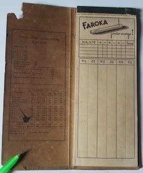 Nota kwitansi lawas Faroka rokok cerutu ahun 30an dan kwitansi tembakau muntilan tahun 60an.