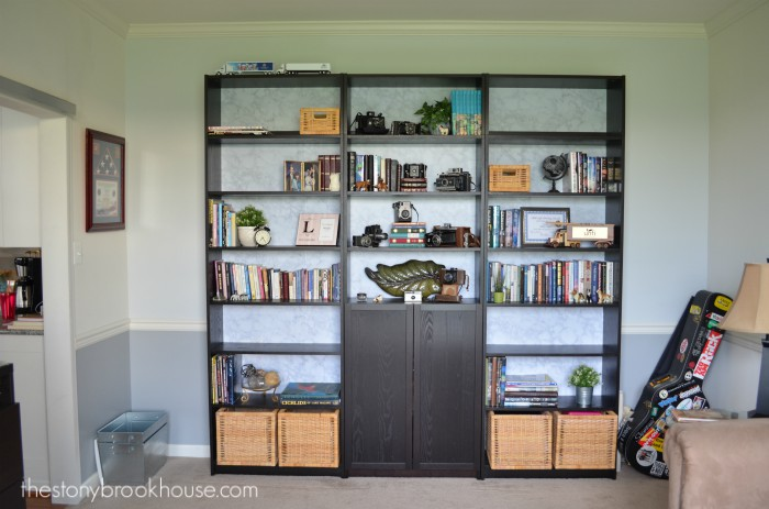 Bookcases mostly complete