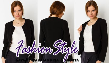 Model Blazer Wanita Smart Casual Blazer With Round Neck