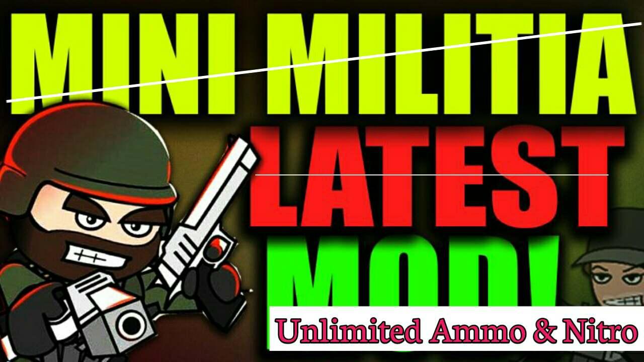 Mini militia Hacked mod Game Unlimited ammo and nitro free