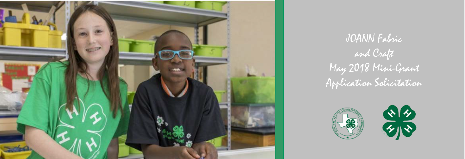 Texas 4 H Practitioner S Blog Joann Fabric And Craft Mini Grant Application Released