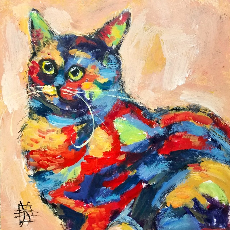 CAT #15 by Joanie Springer 30 CATS in 30 Days