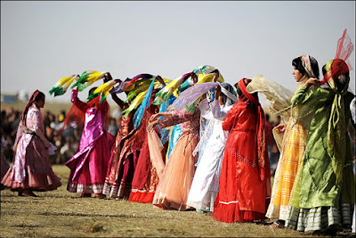 Dance of Qashqai women.