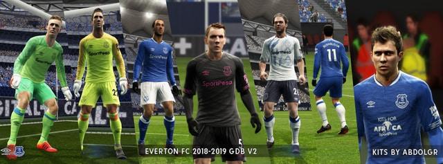 Everton FC 2018/19 kits V2 by AbdoLGR