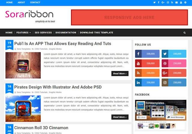 Sora Ribbon Blogger Theme