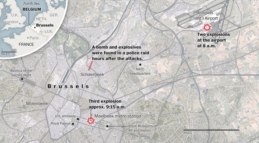 What happened in the Brussels attacks?