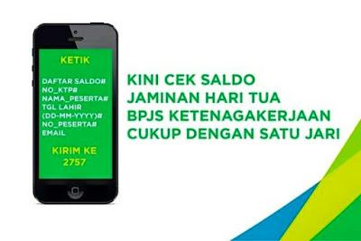 Format Penulisan SMS Cek Saldo JHT BPJS TAK Lewat SMS