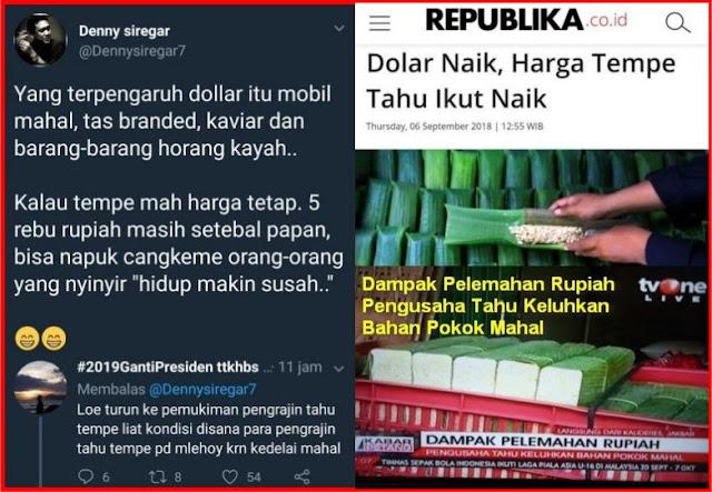 Sebut Harga Tempe tak Terpengaruh Dolar, Pendukung Jokowi Disentil Warganet
