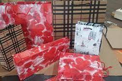 renkli hazır kağıt çanta + selefonlu poşet