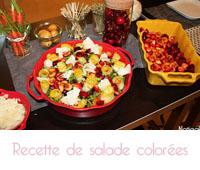 salades colorées  aux fruits et légumes primeurs