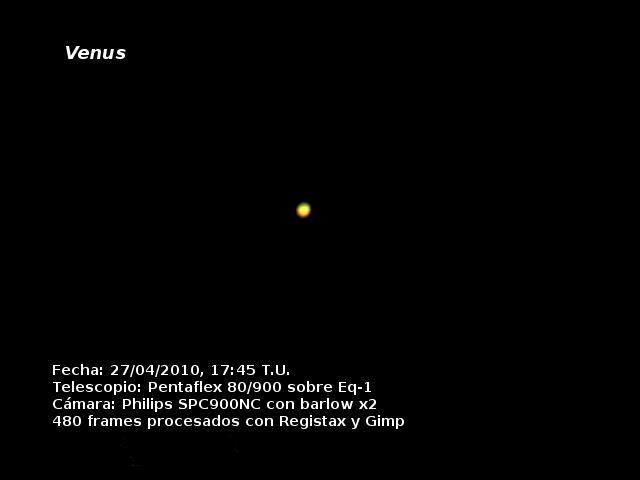 Venus 27 de abril de 2010