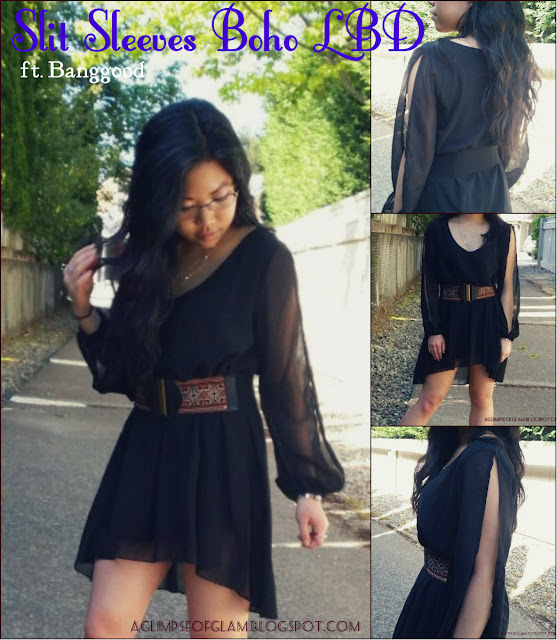 OOTD Inspo Boho Chic LBD with Slit Sleeves ft Banggood - Andrea Tiffany aglimpseofglam