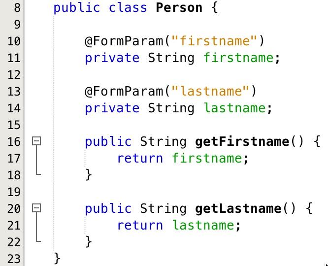 MVC 1 0 in Java EE 8 - Handling Form Validation Errors