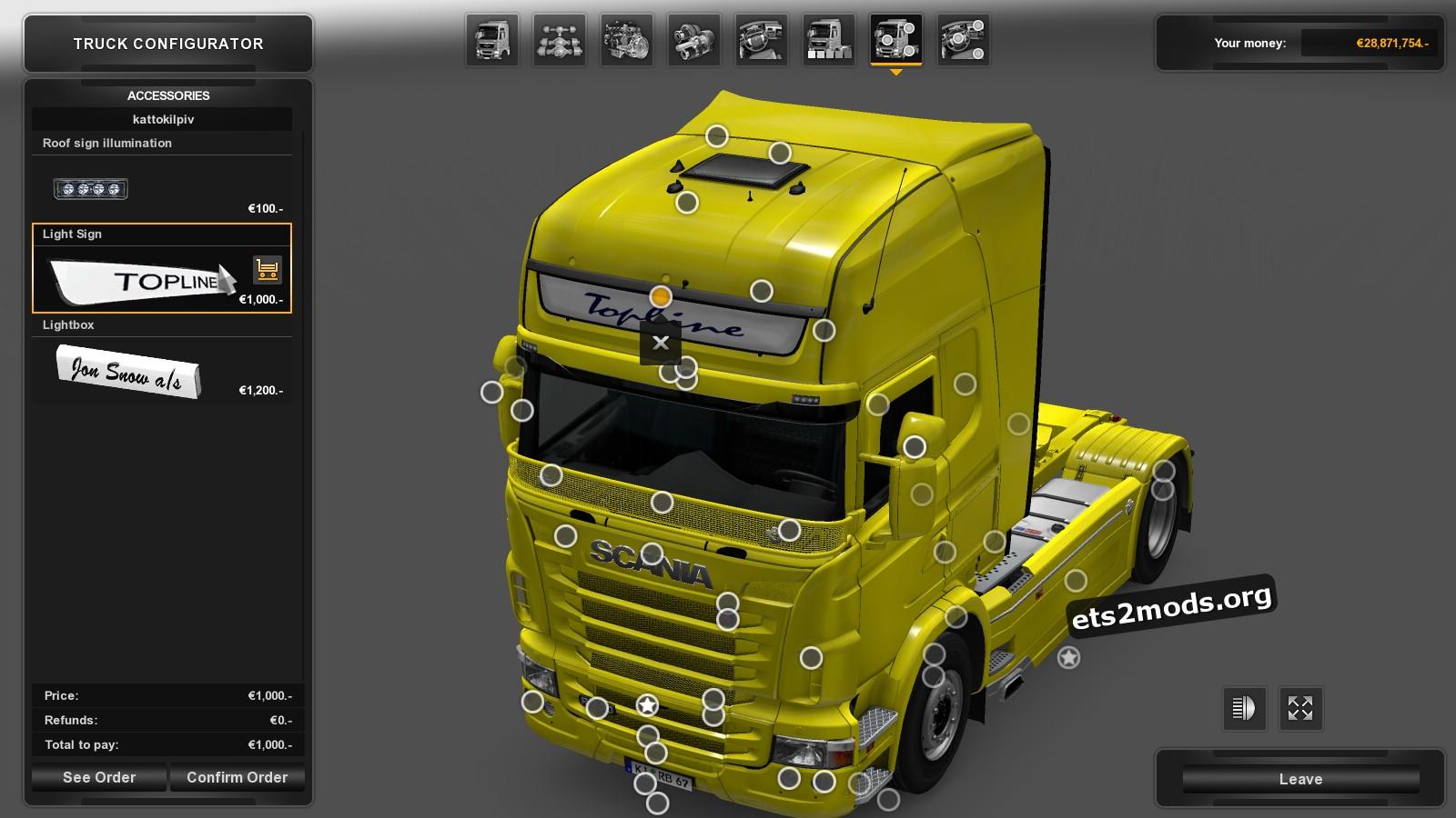 Lightbox for Scania RJL