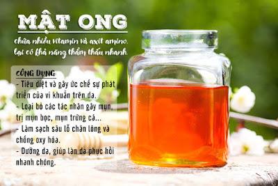Trị mụn cấp tốc bằng mật ong