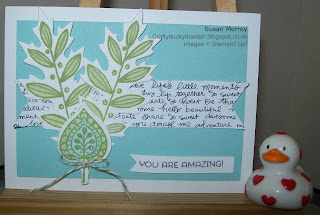 Stampin' Up! Made by Susan Simpson (Merrey) Independent Stampin' Up! Demonstrator, Craftyduckydoodah!, Lighthearted Leaves, Leaflets Framelits,