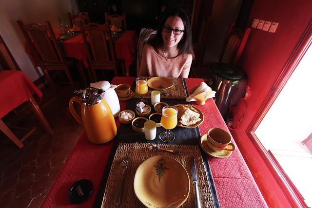 Desayuno en el riad Timadrouine