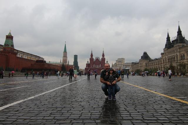 Helia en la Plaza Roja de Moscú