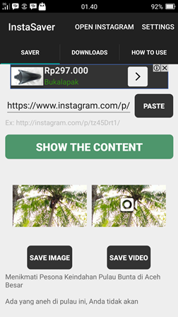 3 Cara Download Video Di Instagram Lewat HP Dan PC