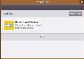 Kode Kupon Offline Event Coupon Berhadiah 500 Diamond Get Rich? cover