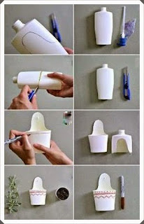 Şampuan Kutusundan Saksı Yapımı, Resimli Açıklamalı 2